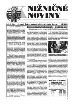 pdf verzia KN2013-2,3 - Štátna vedecká knižnica v Banskej Bystrici
