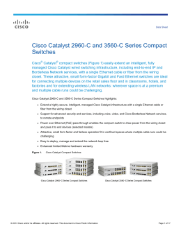 Cisco Catalyst 2960-C and 3560-C Series Compact Switches Data