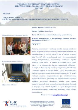 współpraca polsko-słowacka w zakresie pielęgnowania kultury i