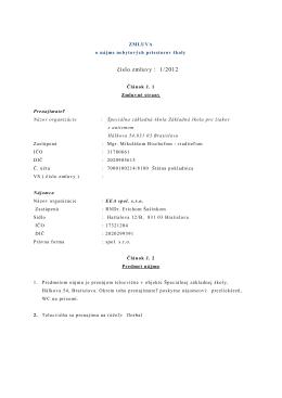 1/2012 EEA spol. s.r.o. - Špeciálna základná škola, Základná škola