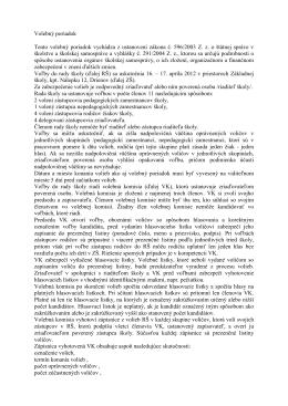 Volebný poriadok - Základná škola, Nám. kpt. Nálepku 12, Drienov