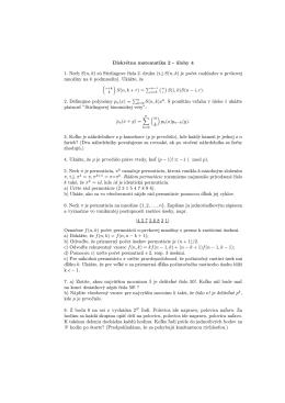 Diskrétna matematika 2 - úlohy 4 1. Nech S(n, k) sú Stirlingove čísla
