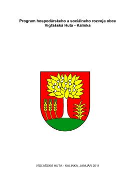 Program hospodárskeho a sociálneho rozvoja obce Vígľašská Huta
