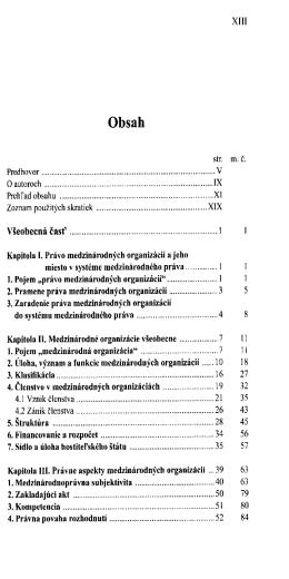 Pravo medzinarodnych organizacii / Jozef Valuch, Michaela Risova