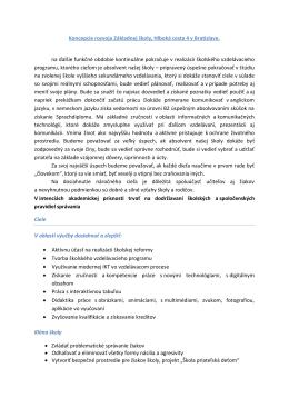 Návrh koncepcie rozvoja Základnej školy, Hlboká cesta 4 v Bratislave,
