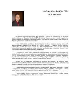 prof. Ing. Peter Dušička, PhD. - Národné centrum pre výskum a