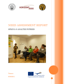 Need assessment report - Capacity building of human resource for
