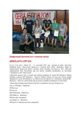 Integrované športové hry v-1 - Základná Škola s Materskou Školou