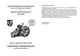 ZÁHORÁCKÁ VETERÁN RALLYE - Asociácia Historických vozidiel SR
