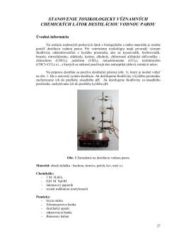 stanovenie toxikologicky významných chemických látok destiláciou