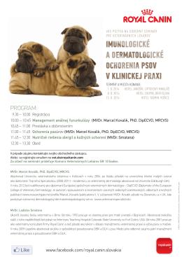 imunologické a dermatologické ochorenia psov v klinickej praxi