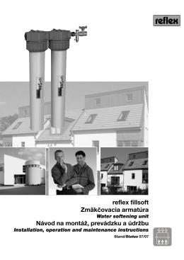 reflex fillsoft Zmäkčovacia armatúra Návod na montáž, prevádzku a