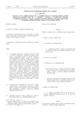 Vykonávacie nariadenie Komisie (EÚ) č. 410/2011 z 27. apríla 2011