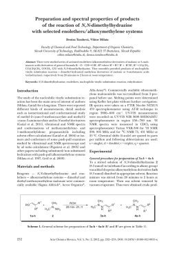 Preparation and spectral properties of products of the reaction of N
