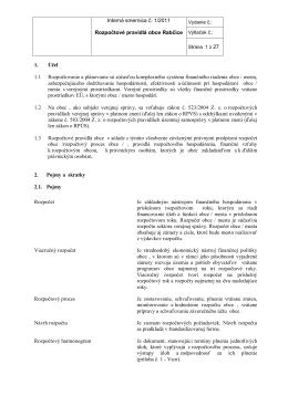 Interná smernica č. 1/2011 Rozpočtové pravidlá obce Rabčice 1