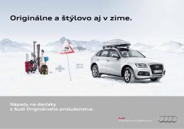 Nápady na darčeky z Audi originálneho príslušenstva pre Vašich