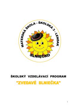 školský vzdelávací program - Základná škola, Školská 535/5, Lendak