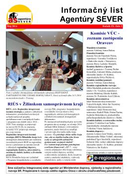 Najnovší Informačný list - Agentúra pre regionálny rozvoj SEVER
