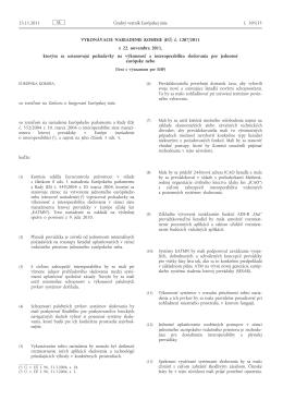 Vykonávacie nariadenie Komisie (EÚ) č. 1207/2011 z 22. novembra