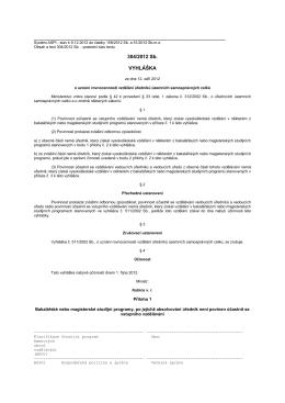 Vyhláška č. 304/2012 Sb.