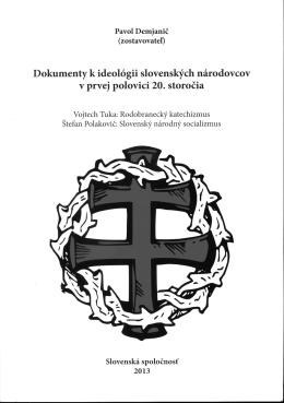 Dokumenty k ideológii slovenských národovcov v prvej polovici 20