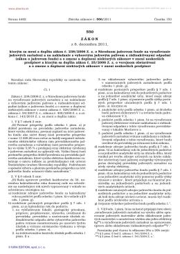 Zákon č. 550/2011 Z. z.
