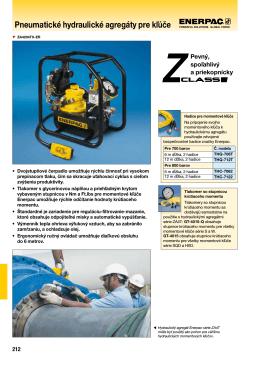 ZA4T séria Pneumatické hydraulické agregáty pre momentové kľúče