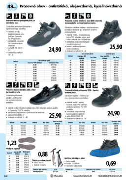 show=1;Pracovná obuv - antistatická, olejuvzdorná, kyselinovzdorná