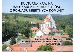 Kultúrna krajina malokarpatského regiónu z perspektívy miestnych