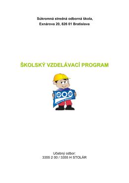 Stolár - Súkromná stredná odborná škola Exnárova 20, Bratislava