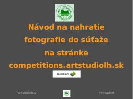 Návod na nahratie fotografie do súťaže na stránke competitions
