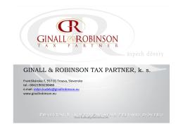 GINALL & ROBINSON TAX PARTNER, k. s.