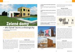 Zelené domy: Ako bývať lacno a ekologicky.