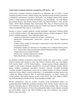 Ustanovujúce zasadnutie miestneho zastupiteľstva MČ Košice – Juh