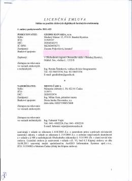 Licenčná zmluva - GEODIS SLOVAKIA, s.r.o.