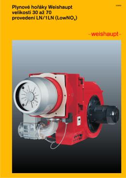 Plynové hofiáky Weishaupt velikosti 30 aĎ 70 provedení LN/1LN