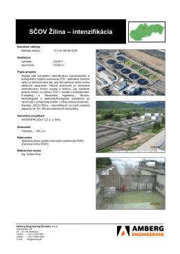 SČOV Žilina – intenzifikácia - Amberg Engineering Slovakia, sro