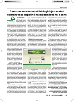 Centrum excelentnosti biologických metód ochrany lesa úspešné na