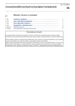 Zoznam konsolidovaných právnych predpisov Európskej - EUR-Lex