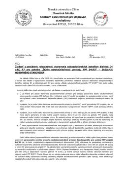 Žilinská univerzita v Žiline Stavebná fakulta Centrum excelentnosti