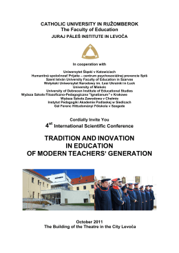 tradition and inovation in education of modern teachers` generation