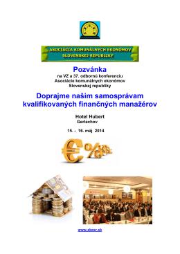 Podrobný program konferencie, organizačné pokyny, aj návratku si