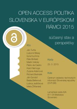 open access politika slovenska v európskom rámci 2015 ope sloven