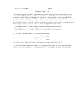 26.11.2014, 2. skupina Jméno: Zápoctový test z PSI Nezapomente