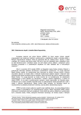 Magistrát mesta Košice MUDr. Richard Raši, PhD., MPH primátor