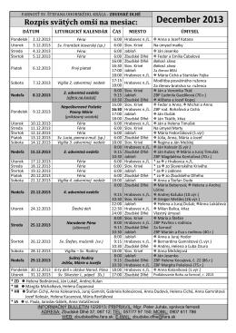 Farský bulletín 12-2013 - Farnosť sv. Štefana Uhorského Zbudské