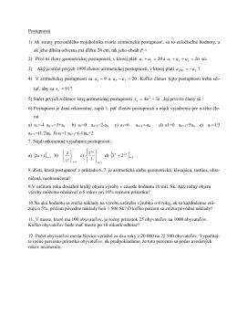 Postupnosti 1) Ak strany pravouhlého trojuholníka tvoria aritmetickú