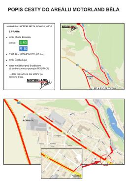 Zde naleznete mapu příjezdu k MOTORLANDU.