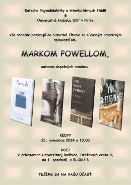 Mark Powell - Katedra lingvodidaktiky a interkultúrnych štúdií