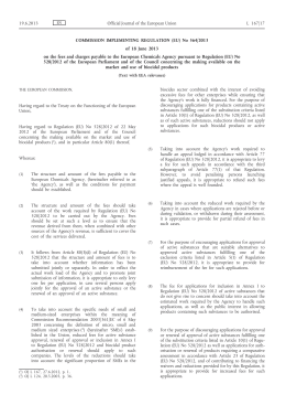 Commission Implementing Regulation (EU) No 564/2013 of 18 June